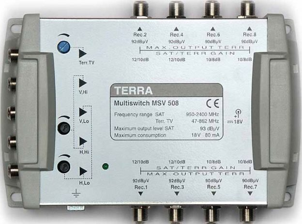 Мультисвитч TERRA MV508