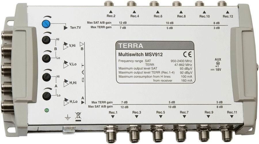 Мультисвитч TERRA MV912L
